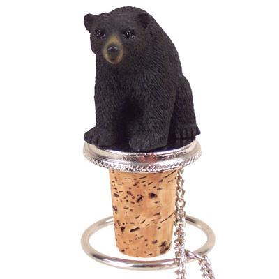 bear black bottle stopper