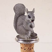 Squirrel Gray Bottle Stopper