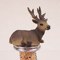 Elk Bull Bottle Stopper