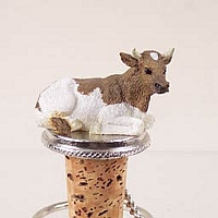 Guernsey Bull Bottle Stopper