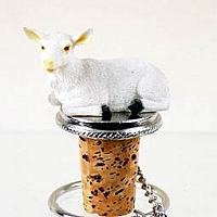 Goat White Bottle Stopper