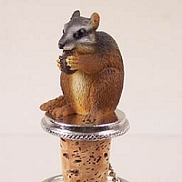 Chipmunk Bottle Stopper
