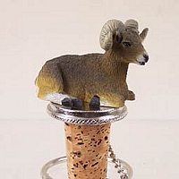 Big Horn Sheep Bottle Stopper