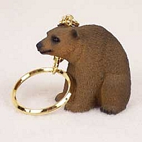 Bear Brown Key Chain