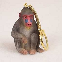 Mandrill Key Chain