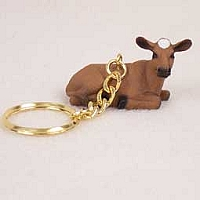 Guernsey Cow Key Chain