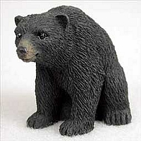 Bear Black Tiny One Figurine
