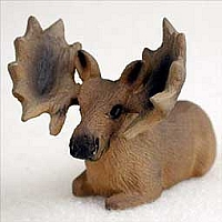 Moose Bull Tiny One Figurine