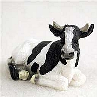 Holstein Bull Tiny One Figurine