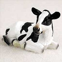 Holstein Cow Tiny One Figurine