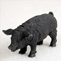 Pig Black Tiny One Figurine