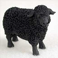 Sheep Black Tiny One Figurine