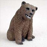 Bear Grizzly Tiny One Figurine