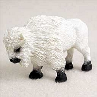 Buffalo White Tiny One Figurine