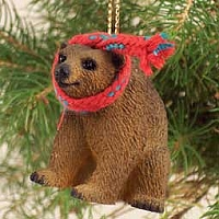 Bear Brown Original Ornament
