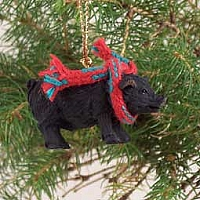 Pig Black Original Ornament