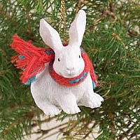 Rabbit White Original Ornament