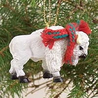Buffalo White Original Ornament