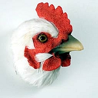 White Hen Feathered Magnet