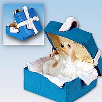 Petit Basset Griffon Vendeen Gift Box Blue Ornament