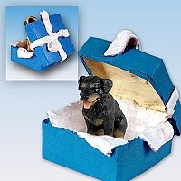 Rottweiler Gift Box Blue Ornament