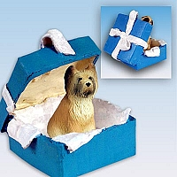 Briard Gift Box Blue Ornament