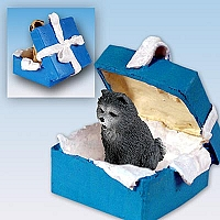 Chow Blue Gift Box Blue Ornament