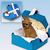 Norfolk Terrier Gift Box Blue Ornament