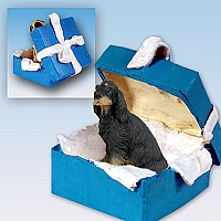 Gordon Setter Gift Box Blue Ornament