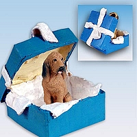 Bloodhound Gift Box Blue Ornament
