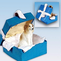 Borzoi Gift Box Blue Ornament
