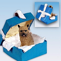 Norwich Terrier Gift Box Blue Ornament