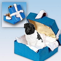 Landseer Gift Box Blue Ornament