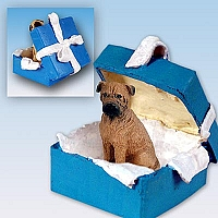 Bullmastiff Gift Box Blue Ornament