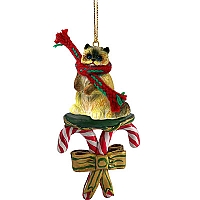 Ragdoll Candy Cane Ornament