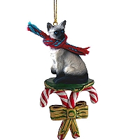 Siamese Candy Cane Ornament
