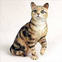 Brown Shorthaired Tabby Cat Standard Figurine