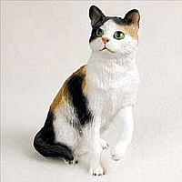 Calico Shorthaired Standard Figurine