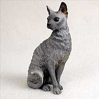Blue Cornish Rex Standard Figurine