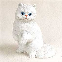 White Persian Standard Figurine