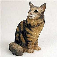 Brown Maine Coon Cat Standard Figurine