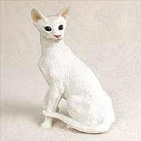 White Oriental Shorthaired Standard Figurine