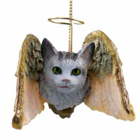 Silver Tabby Maine Coon Cat Angel Hanging