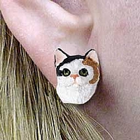 Calico Shorthaired Earrings Post
