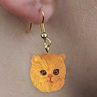 Red Persian Earrings Hanging