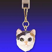 Calico Zipper Charm