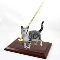 Silver Shorthaired Tabby Cat Pen Set