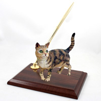 Brown Shorthaired Tabby Cat Pen Set