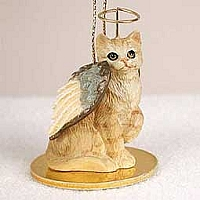 Red Shorthaired Tabby Cat Pet Angel Ornament