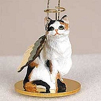 Calico Shorthaired Pet Angel Ornament